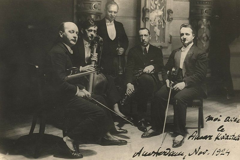 Amar Quartet with Stravinsky Amsterdam 1924